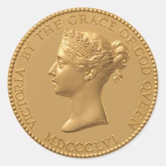 Sticker Rond Pièce de monnaie de la Reine Victoria