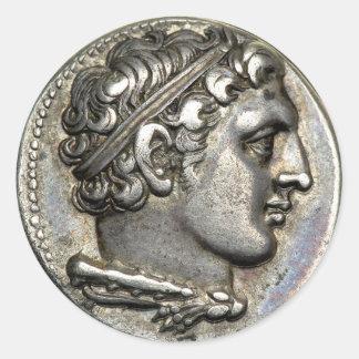 Sticker Rond Pièce de monnaie romaine