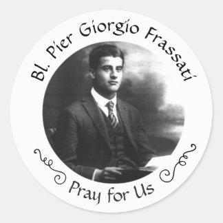 Sticker Rond Pier Giorgio Frassati béni
