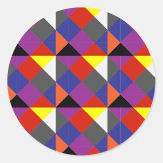 Sticker Rond Pierrot coloré