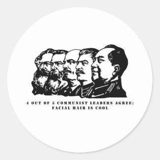 Sticker Rond Pilosité faciale de communisme