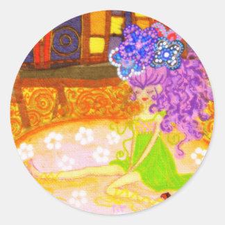 Sticker Rond pink lolita