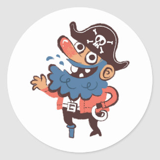 Sticker Rond Pirate - aléatoire