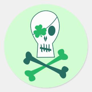 Sticker Rond Pirate du jour de St Patrick