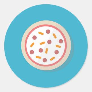 Sticker Rond Pizza