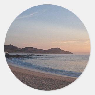 Sticker Rond plage dans l'autocollant de cabo