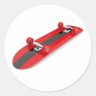 Sticker Rond Planche à roulettes