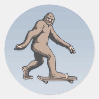 Sticker Rond Planche à roulettes de Bigfoot