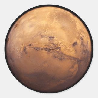 Sticker Rond Planète rouge Mars