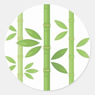 Sticker Rond Plante en bambou