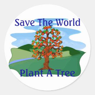 Sticker Rond Plantez un arbre