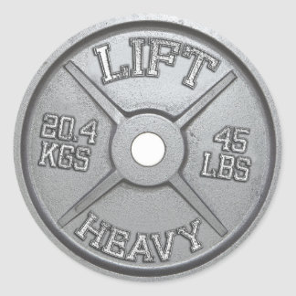 Sticker Rond Plat d'haltère - soulevez lourd