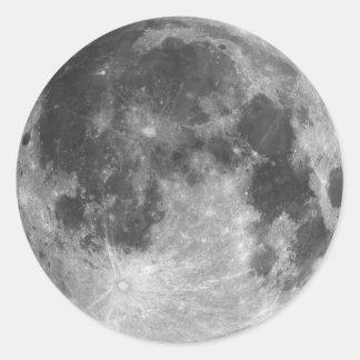 Sticker Rond Pleine lune
