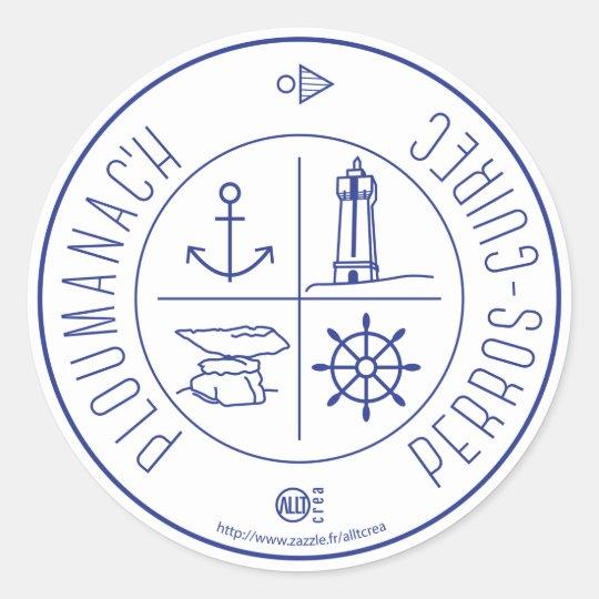 Sticker Rond Ploumanach  Perros-Guirec