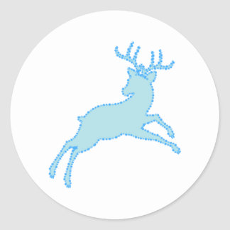 Sticker Rond pochoir 2.2.7 de cerfs communs