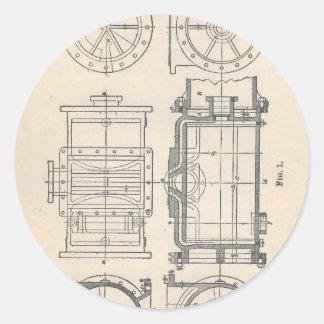Sticker Rond Pocletbook du mécanicien