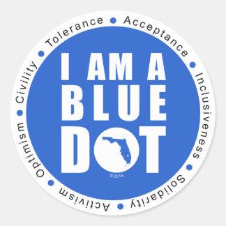 Sticker Rond Point bleu la Floride