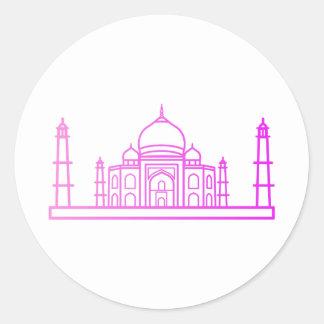 Sticker Rond Point de repère - l'autocollant du Taj Mahal