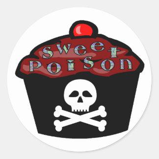 Sticker Rond Poison doux