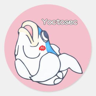 Sticker Rond Poissons d'éclaircissement de Yoctosec