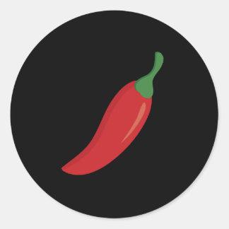 Sticker Rond Poivre de piment rouge