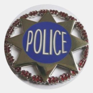 STICKER ROND POLICE