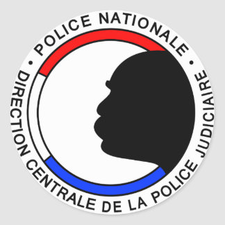 Sticker Rond Police Française
