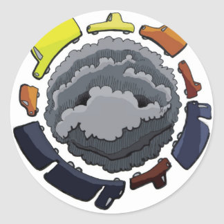 Sticker Rond pollution