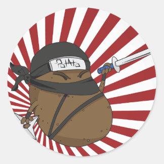 Sticker Rond Pomme de terre Ninja