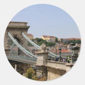 Sticker Rond Pont à chaînes de Széchenyi, Budapest, Hongrie