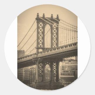 Sticker Rond Pont de Manhattan