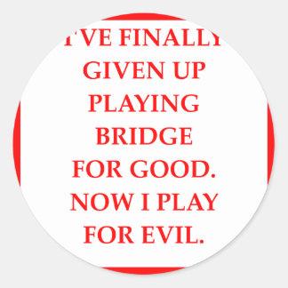 Sticker Rond pont en double