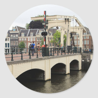 Sticker Rond Pont maigre, Amsterdam, Hollande