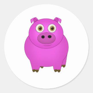 Sticker Rond Porc
