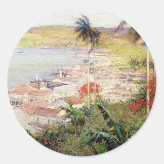 Sticker Rond Port de La Havane