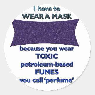 Sticker Rond Port d'un masque parce que
