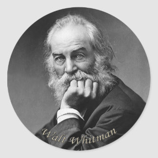 Sticker Rond Portrait essentiel de Walt Whitman