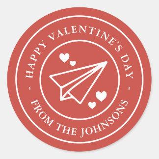 Sticker Rond Poste aérienne Valentine