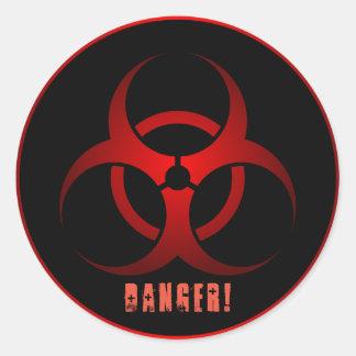Sticker Rond Pouce brillant de ½ d'autocollants de danger 1