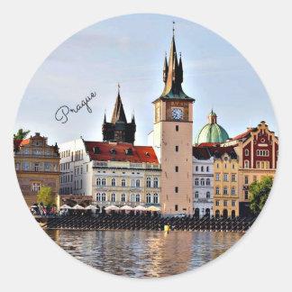 Sticker Rond Prague, République Tchèque