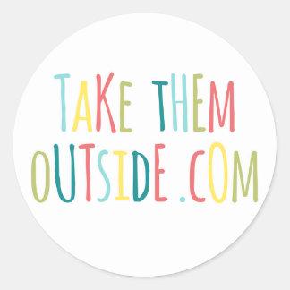 Sticker Rond Prenez-leur l'autocollant d'extérieur