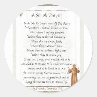 Sticker Rond prière simple de St Francis