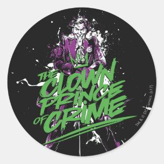 Sticker Rond Prince Of Crime Ink Art de clown de joker de