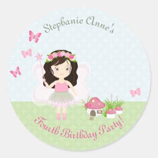 Sticker Rond Princesse de fée de région boisée