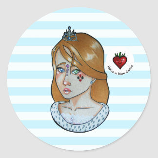 Sticker Rond Princesse des as - feuille d'autocollant (bleue)