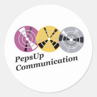 Sticker Rond Produit communication logo