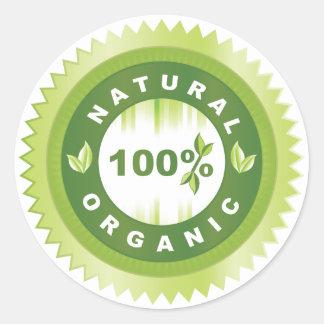 Sticker Rond Produit organique naturel