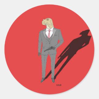 "Sticker Rond Produits ""z'animo"", Le Varan"