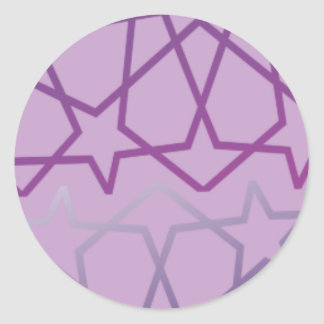 Sticker Rond Profil sous convention astérisque abstrait inspiré