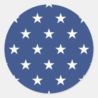 Sticker Rond Profil sous convention astérisque bleu et blanc
